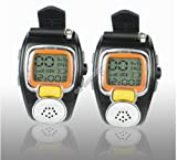 WCI Quality Pair of Wrist Watch Two-Way Radios, Multi-Channels Walkie-Talkies - Great Surveillance Tool - LCD Display - 2.5 Miles Range, for Camping, Hiking and All Outdoor Activities - Earphones Included