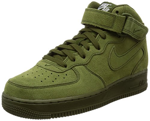 Nike Men's Air Force 1 Mid '07 Legion Green/Legion Green Basketball Shoe 10.5 Men US