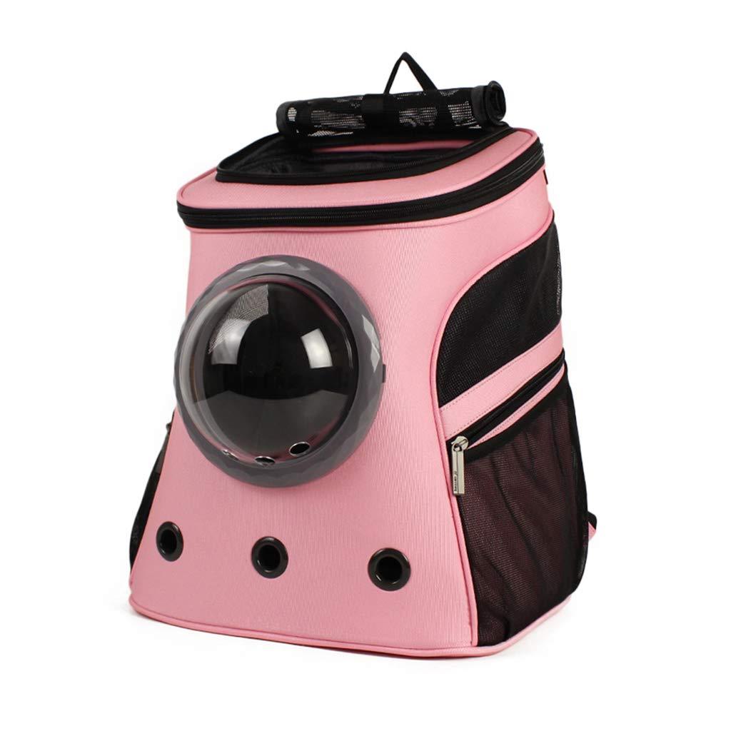 Zaino per Animali Domestici di Grandi Dimensioni   Outing Zaino Portatile   Tela in Tessuto Carrier   Design Head out Traspirante Impermeabile, per Cane Cucciolo di Cane - rosa