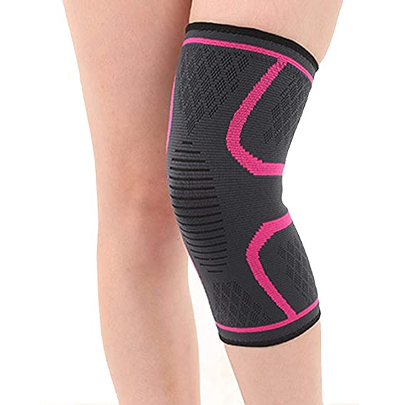 Suitable for Legs Around 30-34cm Black S Basketball Sports Protective Gear Sports Silicone Spring Knitted Knee Pads Running Climbing Men and Women