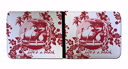 Portafoglio Red uomo Black stampato Live porta carte Beach per e a SwSUrq