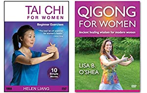 Bundle: Tai Chi Qigong for Women 2-DVD set by Helen Liang and Lisa B. O'Shea (YMAA) Tai Chi for Women DVD and Qigong for Women DVD **Bestseller** from YMAA