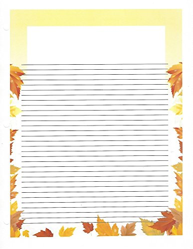 Autumn Leaves 3 Hole Loose Leaf Paper 50 Sheets by Autumn Leaves Loose Leaf Paper