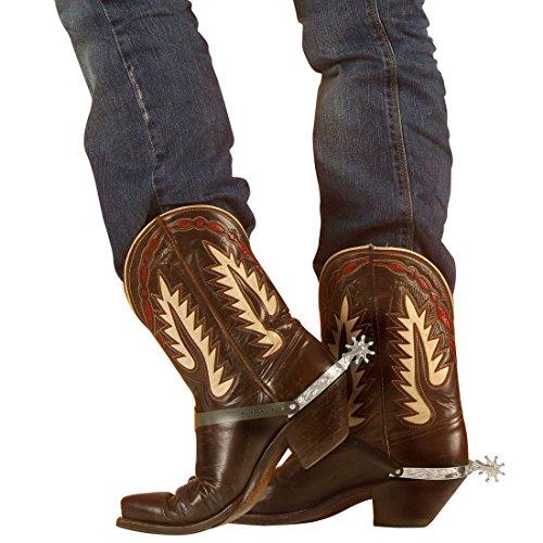 Westernsporen Cowboy Sporen silber Stiefelsporen Cowboysporen Western Spurs Wilder Westen Kostüm Accessoire