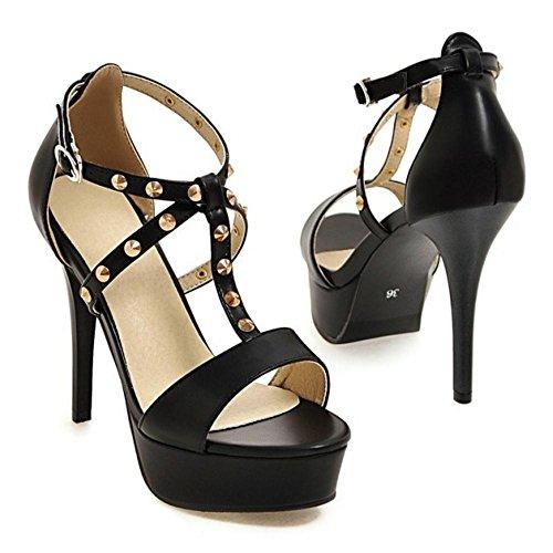 Correa en Black Coolcept T Mujer Sandalias Zapatos FqnwExCAU5