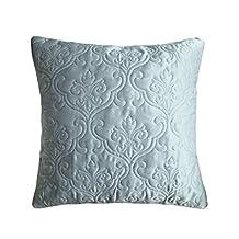 "Adream Tribute Silk/Cotton Printed Euro Shams, Pillow Cover, Pillowcase, European Pillowcase, 26""*26"", (Gray)"
