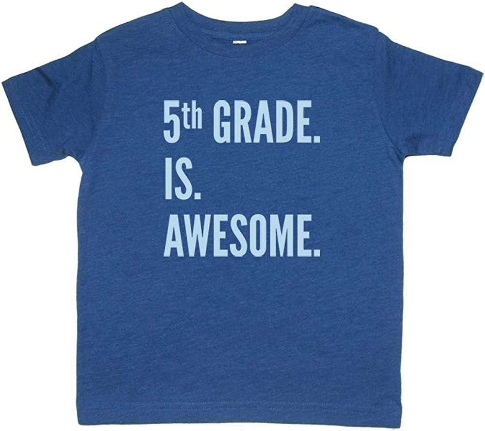 Sunshine Mountain Tees Boys Back to School Shirt 5th Grade is Awesome T-Shirt