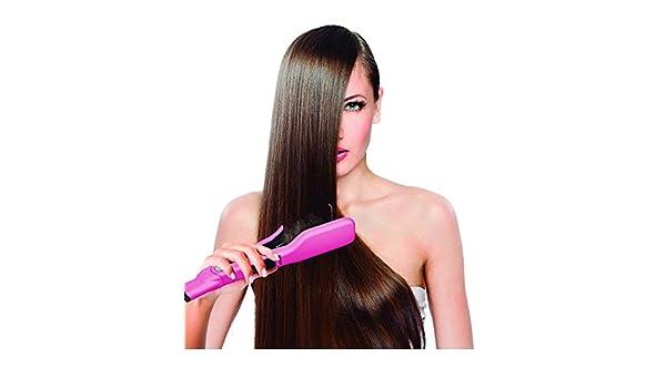 JOCCA Cepillo de pelo alisado de Peine Plancha de pelo doble placa, rosa vapor: Amazon.es: Salud y cuidado personal