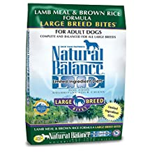 Natural Balance Dry Dog Food Limited Ingredient Diet for Large Breeds, Lamb Meal and Brown Rice, 28-Pound Bag