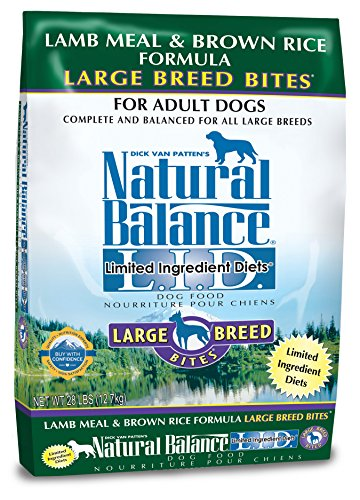 Natural Balance Dry Dog Food Limited Ingredient Diet for Large Breeds, Lamb Meal and Rice, 28 Pound (Dog Boutique Online)