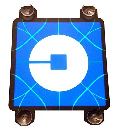 "UBER Sign Light   Large 5"" UBER Light Sign With 4 Suction Cups   Glowing Light UP UBER Sign New Logo   Lighted UBER Sticker RIDESHARE Decal   DC5V USB Power NO Batteries Required   SIGNATOM U 1000"