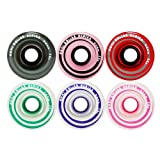 Moxi Skates - Gummy - Outdoor Roller Skate Wheels - 4 Pack of 40mm x 65mm 78A Wheels   Pink