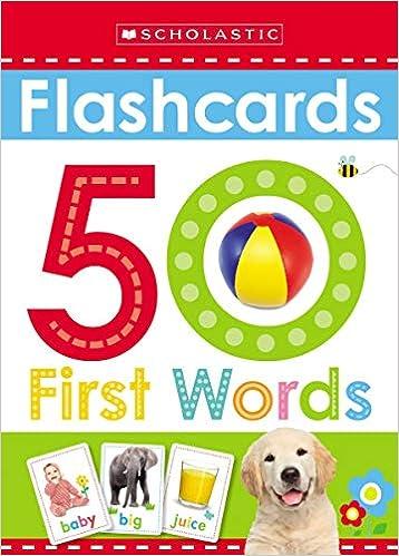 Flashcards: 50 First Words por Scholastic Inc. epub