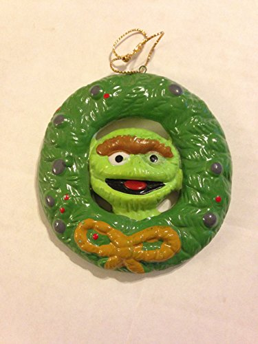 Disney Muppets Oscar the Grouch Wreath 1980 Christmas
