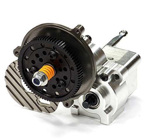 Integy Hobby RC Model C24741SILVER Billet Machined Alloy Center Main Gearbox w/ Metal Gears for Axial (Gt Billet Oil)