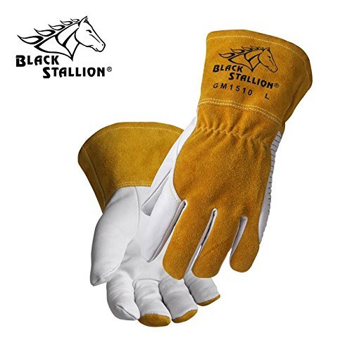 Mig Gloves Tig Welding - Revco BSX Black Stallion Comfortable & High-Dexterity MIG / TIG Welding Glove (Large)