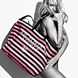 Victoria's Secret Signature Stripe Weekender Tote Bag