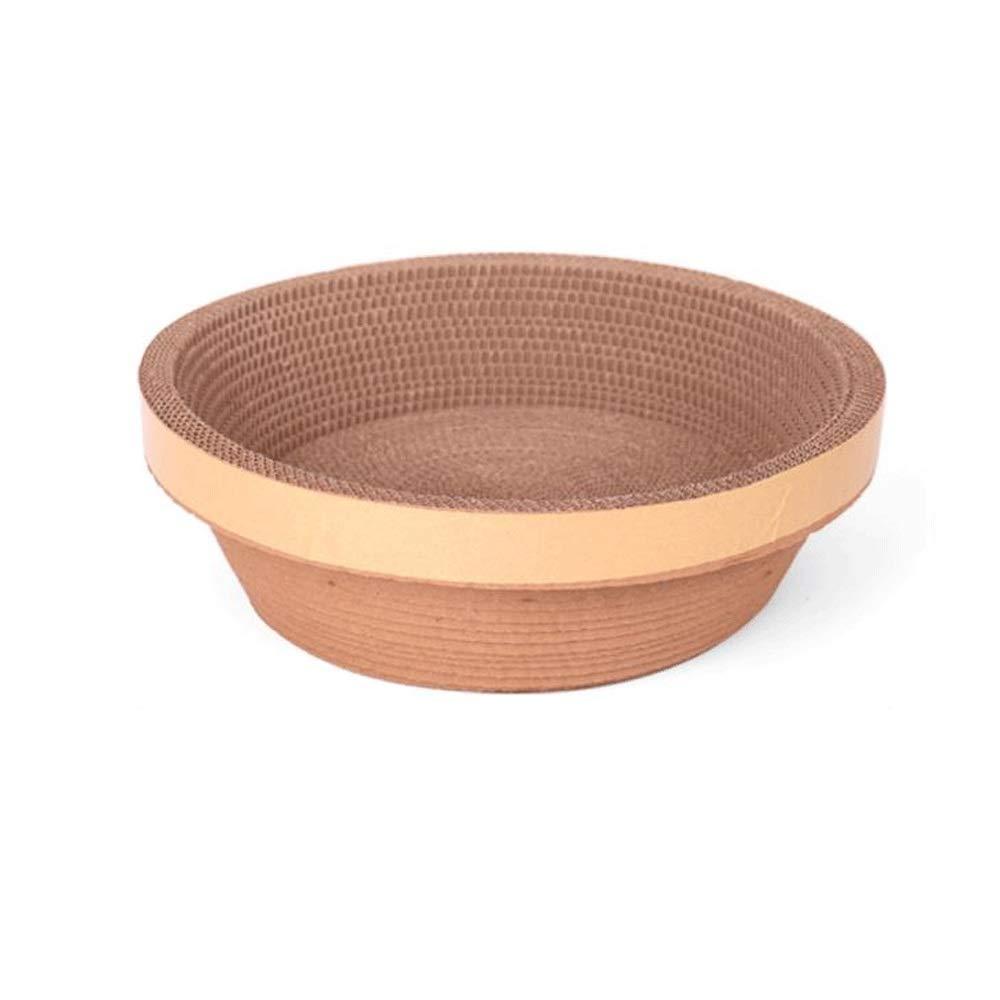1245cm Cat Scratch Board Bowl Cat Bed Corrugated Cat Supplies (Size   12  45cm)