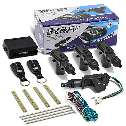 DNA Motoring DNA DL-T4-2B-BK Black Door Power Lock Conversion Kit w/Remote