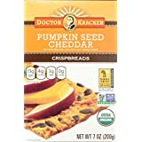 Doctor Kracker Organic Crispbread, Pumpkin Seed Cheddar, 7 Ounce (Pack of 6)
