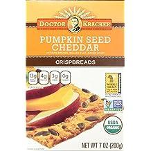 Doctor Kracker Organic Crispbread, Pumpkin Seed Cheddar, 7 Ounce (Pack of 6)