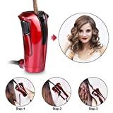 iGutech Automatic Hair Curler with Tourmaline Ceramic Heater (Red)