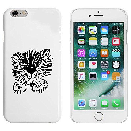 Blanc 'Chat Mignon' étui / housse pour iPhone 6 & 6s (MC00083689)