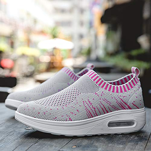 Mesh Women Shoes Platform Running Breathable Outdoor Driving Loafer Air Flat Trainers HLHN Gray Sneakers Casual Sport Max Hx1Sd