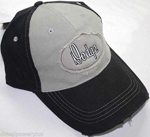 distressed baseball hat ball cap Dodge old school script sun visor turbo RAM 4X4 ()