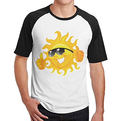 Double Happiness Raglan Funny Sun Tshirts Black S For Mens Or Youth