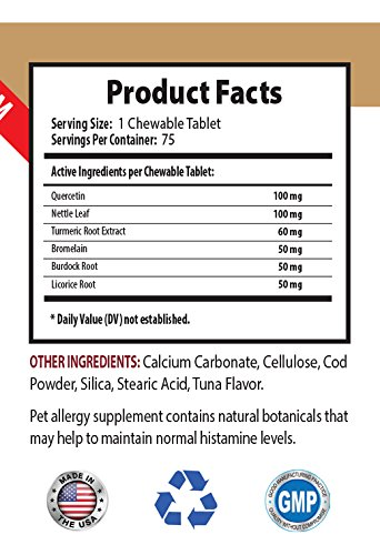 dog scratching relief - PREMIUM DOG ALLERGY RELIEF - ITCH AND IMMUNE SYSTEM SOLUTION - TREATS - nettle for dogs - 150 Treats (2 Bottle) by PETS HEALTH SOLUTION (Image #2)