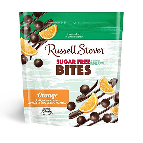 Russell Stover Sugar-Free Dark Choc Bites Resealable Bag, Orange, 5 Ounce by Russell Stover (Choc Bite)