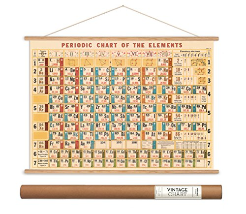 Cavallini Papers Periodic Table Vintage Style Decorative Poster & Hanger Kit, 20'' x 28'' by Cavallini Papers & Co.