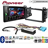 Volunteer Audio Pioneer AVH-201EX Double Din Radio Install Kit with CD Player Bluetooth USB/AUX Fits 2005-2006 Chevrolet Equinox, 2006 Pontiac Torrent