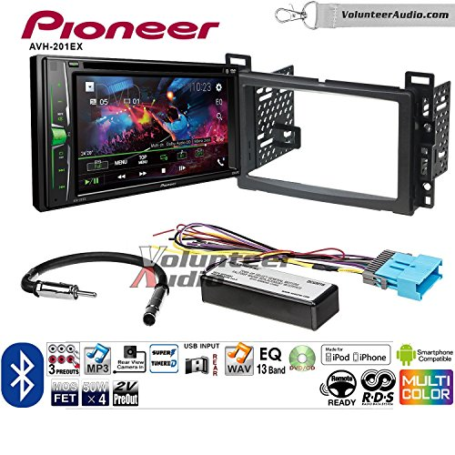 Volunteer Audio Pioneer AVH-201EX Double Din Radio Install Kit with CD Player Bluetooth USB/AUX Fits 2005-2006 Chevrolet Equinox, 2006 Pontiac Torrent by Volunteer Audio (Image #7)