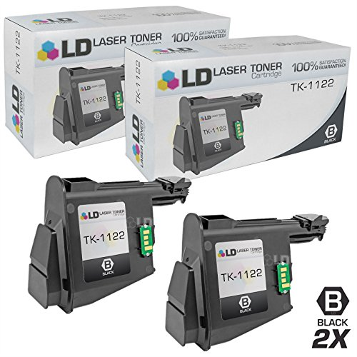 LD Compatible Replacements for Kyocera-Mita 1T02M70UX0 (TK1122) Set of 2 Black Laser Toner Cartridges for use in Kyocera-Mita FS 1025MFP, 1060DN, and 1125MFP Printers (Kyocera Printer One Laser In All)