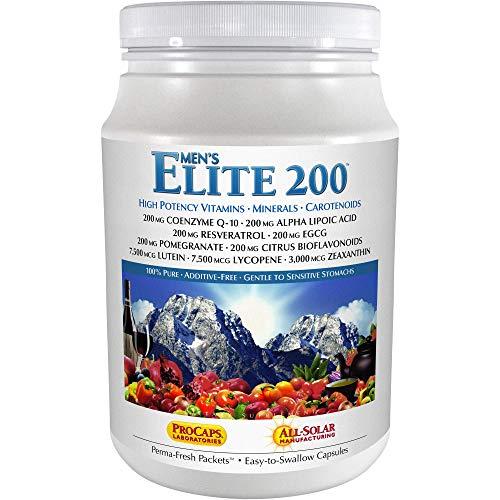 Andrew Lessman Multivitamin – Men's Elite-200 120 Packets – 40+ Potent Nutrients Plus 200mg Each of Coenzyme Q10, Alpha Lipoic Acid, Resveratrol, EGCG, Pomegranate, Citrus Bioflavonoids. No Additives