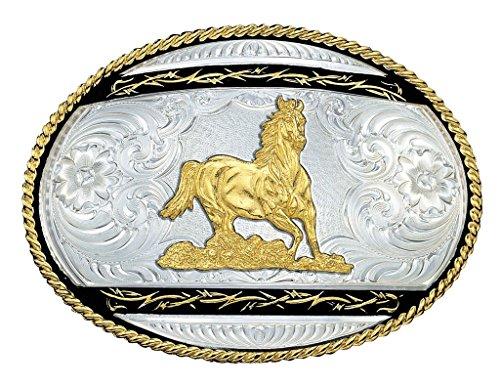 Montana Silversmiths Men's Galloping Horse Western Belt B...