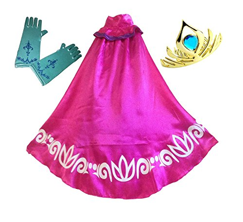 BlueField Swaroser Elsa Coronation Costume Girl's Long Cape Clock with Gloves and Crown (4-5Y) for $<!--$12.50-->