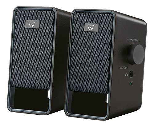 Ewent EW3504 6W Negro Altavoz - Altavoces (2.0 Canales, Alámbrico, 3,5 mm, 6 W, 200-20000 Hz, Negro)