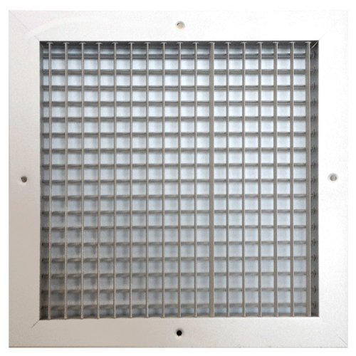 Speedi-Grille SGA-1212 AMD 12-Inch by 12-Inch Soft White Aluminum Ceiling or Wall Register with Adjustable Multi Deflection - Vent Kit Directional