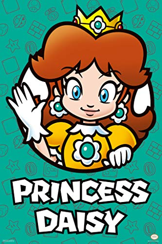 Pyramid America Super Mario Bros Princess Daisy Nintendo Poster 12x18 Inch