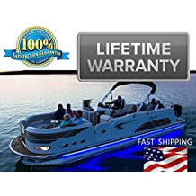 PONTOON lighting kit - UNIVERSAL will fit any pontoon or boat - Remote Control - Color Selectable - Under Deck or Around the hull - Red Green Blue White Orange Purple more...