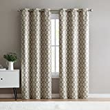 VCNY Home 2 Pack Renaissance Trellis Energy Saving, Thermal, Blackout Window Curtains – Assorted Colors (Taupe)