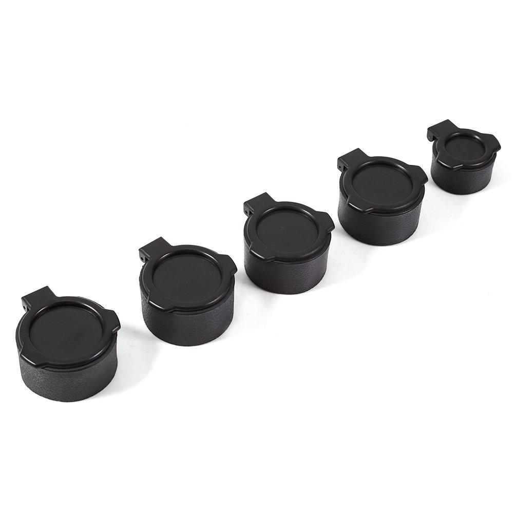 Flip up Open Eye Scope Covers, 2Pcs Hunting Scope Cover Dustproof Lens Cap Rifle Flip Open Optic Scope Sight Accessories - 5 Sizes Optional Tbest