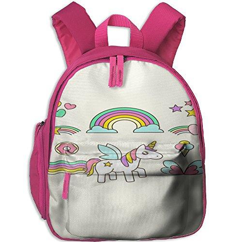 Little Girls Boys Personalized Waterproof Kids Backpack With Adjustable Shoulder Straps Unicorn Horse Printed Schoolbag Gift For Children In Pre School Or Kindergarten