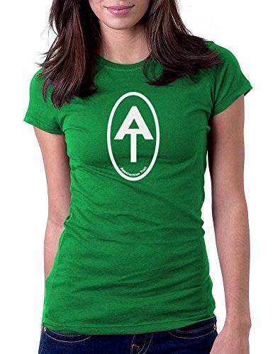 Appalachian Trail Oval - Womens Tee T-Shirt, Large, (Oval Green T-shirt)