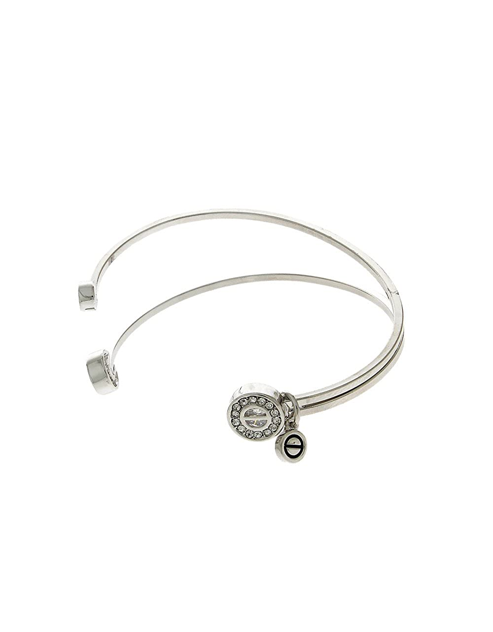 Anuradha Art Silver Finish Different Styled with Shimmering Stone Classy Hand Bracelet//Kada for Women//Girls