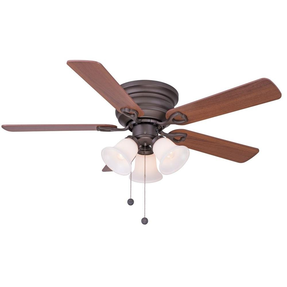 Clarkston 44 In. Oiled Rubbed Bronze Ceiling Fan With Light Kit