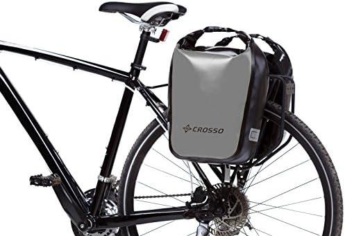 Crosso Dry Small co1010 C 30 L bicicleta alforja Bike Bicicleta Alforja, plata: Amazon.es: Deportes y aire libre